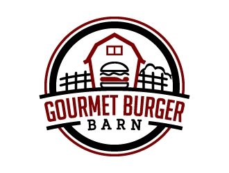 Gourmet Burger Barn logo design