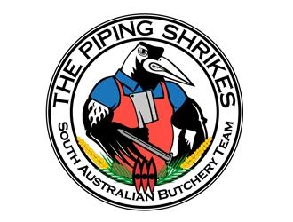 The South Australian Piping Shrikes logo design
