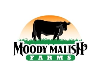 Moody Malish Farms logo design