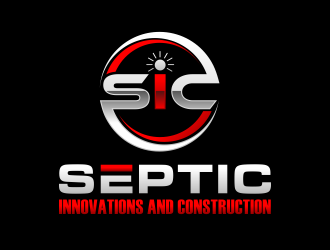 Septic innovations and construction logo design