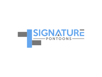 Signature Pontoons logo design