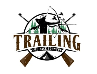 Trailing the back country logo design