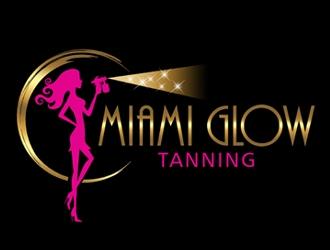Miami Glow Tanning  logo design