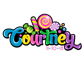 Courtneys Bat Mitzvah logo design