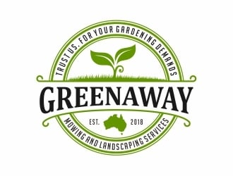 Greenaway - Mowing and Landscaping Services  logo design