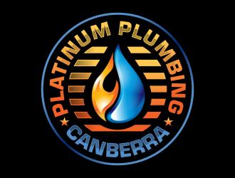 Platinum Plumbing Canberra logo design