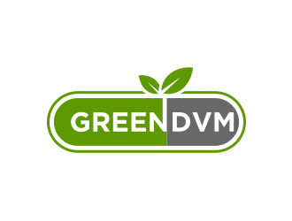 Green DVM logo design