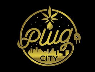 PLUG CITY logo design