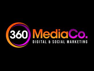 360 Media Co. logo design