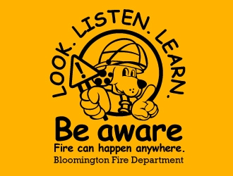 National Fire Prevention Week / Bloomington, Minnesota Fire Department logo design