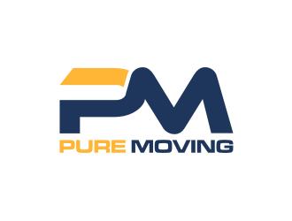 Pure Moving  logo design