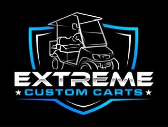 Extreme Custom Carts logo design