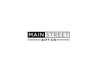 Little Gift Shop on Main  Or Main Street Gift Co logo design