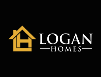 LOGAN HOMES logo design