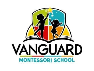 Vanguard Montessori School  logo design