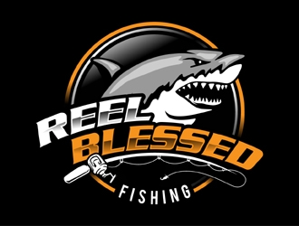 Reel Blessed Fishing logo design