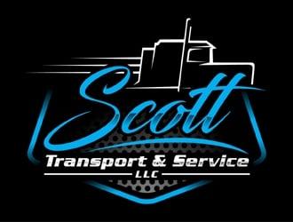Scott Transport & Service LLC logo design