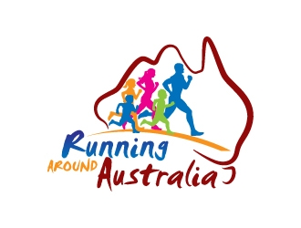 Running Around Australia logo design