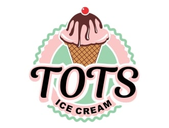 TOTS Ice Cream  logo design