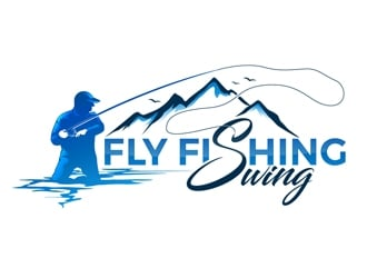 Fly Fishing Swing logo design