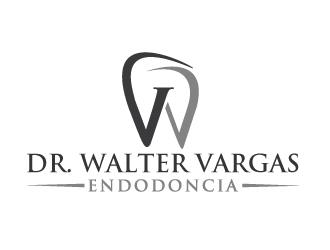 Dr Walter Vargas  Endodoncia or  Dr. Walter Vargas Especialista en Endodoncia logo design