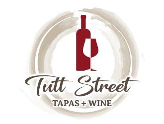 tutt street tapas & wine logo design