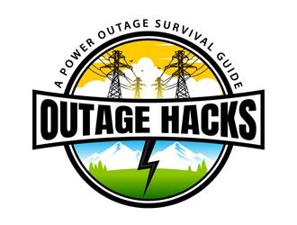 Outage Hacks logo design