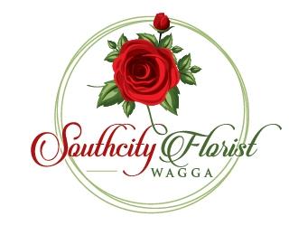 Southcity Florist logo design