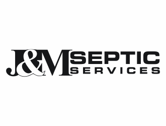 J & M Septic Services logo design