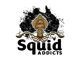 Squid Addicts logo design