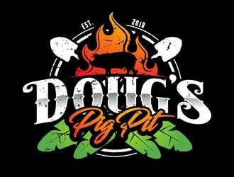 Doug's Pig Pit logo design