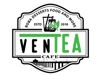 Ventea Cafe logo design by shere