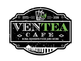 Ventea Cafe logo design by ARALE