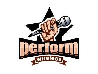 perform wireless logo design