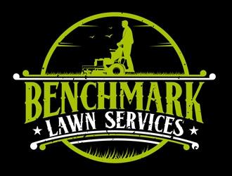 Benchmark Lawn Services  logo design