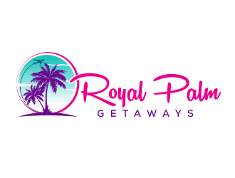 Royal Palm Getaways logo design
