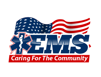 EMS: Caring For The Community logo design