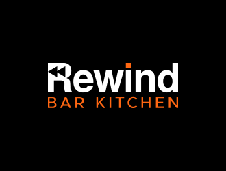 Rewind      Bar   Kitchen logo design