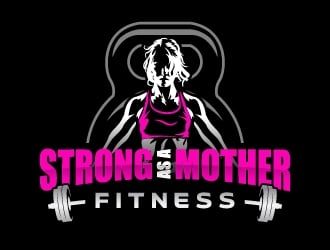 Strong As A Mother Fitness logo design