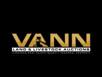 Vann Land & Livestock Auctioneer logo design