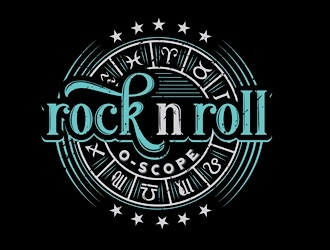 Rock n Roll O Scope logo design