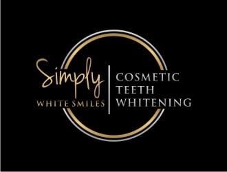 Simply White Smiles cosmetic teeth whitening logo design