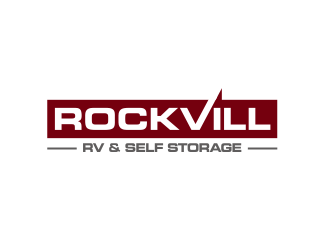 Rockvill RV & Self Storage logo design
