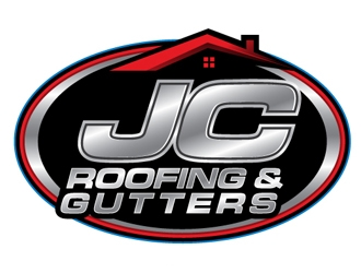 JC Roofing & Gutters logo design