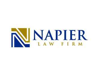 Napier Law Firm logo design by denfransko