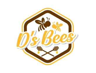 Ds bees logo design