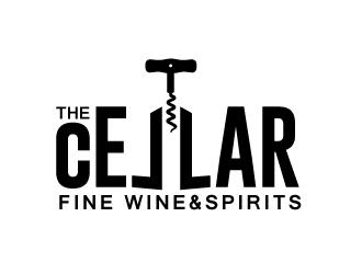 The Cellar  fine wine&spirits  logo design by nexgen