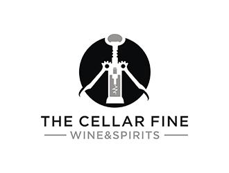 The Cellar  fine wine&spirits  logo design by checx