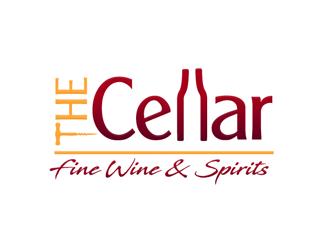 The Cellar  fine wine&spirits  logo design by megalogos