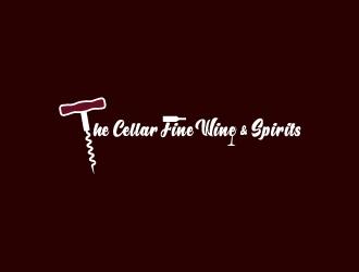 The Cellar  fine wine&spirits  logo design by cayle